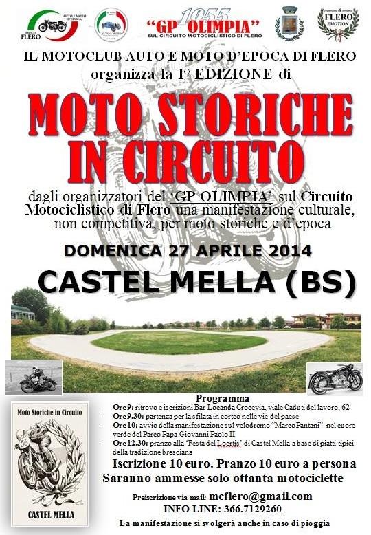 Moto Storiche in circuito a Castel Mella 2014