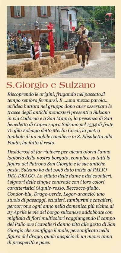 Palio del Drago 2014 Sulzano Storia