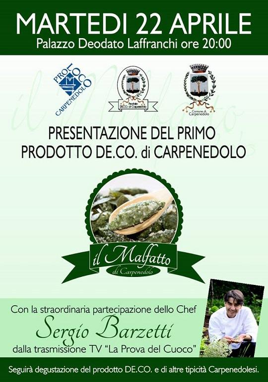 Presentazione Malfatto la De.C.O. di Carpenedolo