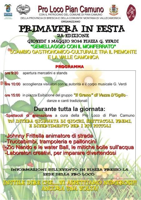 Primavera in Festa 2014 Pian Camuno