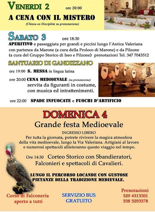 Rivive l'Antica Valeriana 2014 Sale Marasino PROGRAMMA