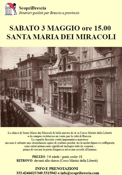 Santa Maria dei Miracoli con ScopriBrescia