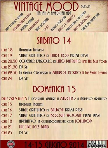 Vintage Mood 2014 Brescia Programma 1