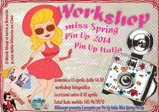 Workshop Miss Spring Pin Up a Brescia