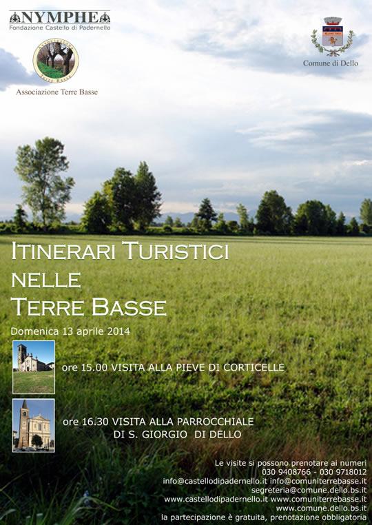 itinerari turistici nelle terre basse