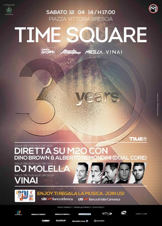 time square in piazza vittoria