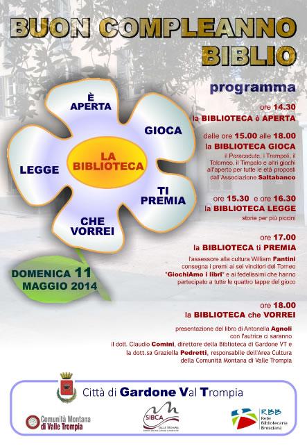 Compleanno Biblioteca a Gardone VT