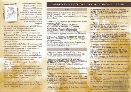 Concerto Omaggio  Mons. Geremia Bonomelli