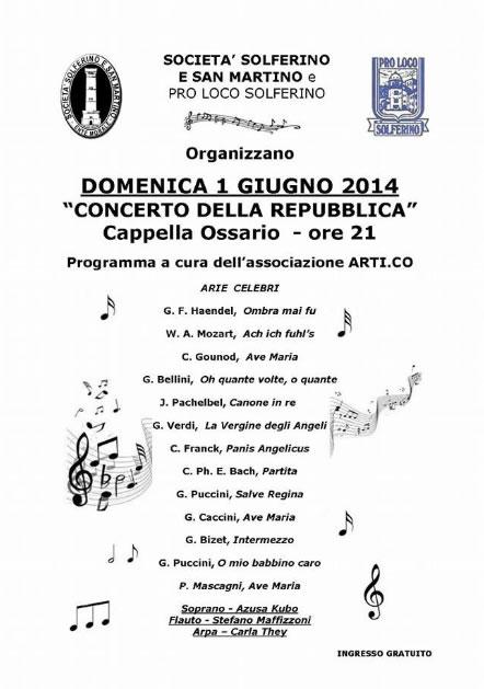 Concerto della Repubblica a Solferino e San Martino