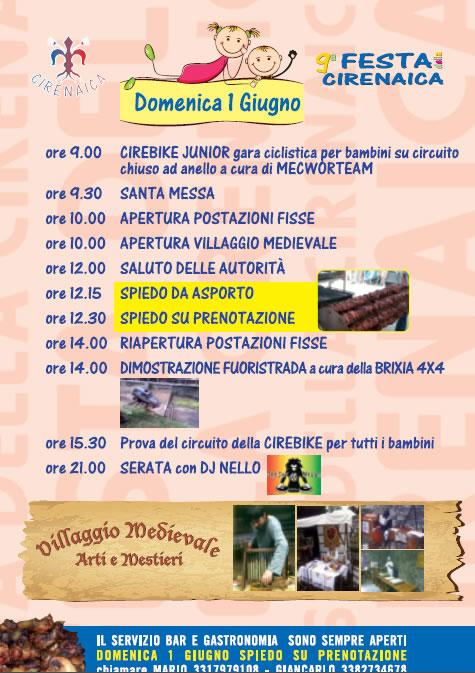 Festa Cirenaica in Valle Gardone