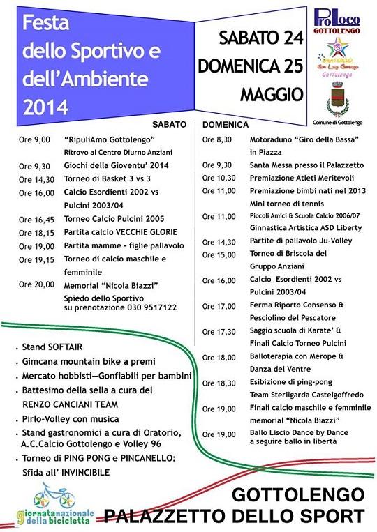 Festa dello Sportivo e dell'Ambiente 2014 Gottolengo