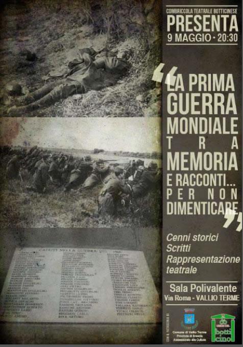 La Prima Guerra Mondiale Tra Memoria e Racconti a Vallio Terme