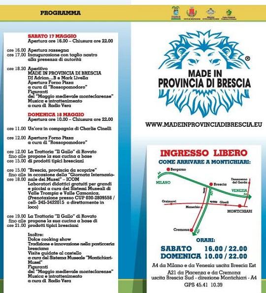 Made in Provincia di Brescia 5-2014 Montichiari Programma