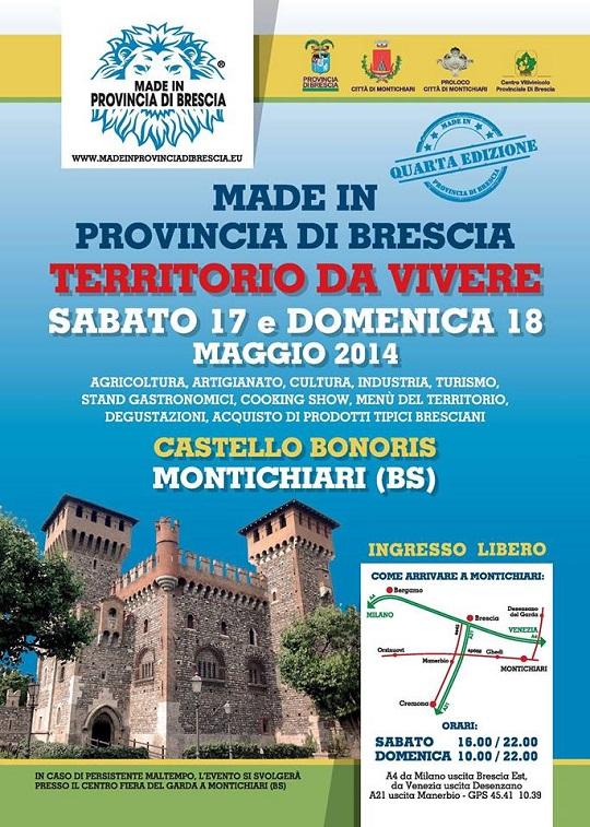 Made in Provincia di Brescia Maggio 2014 Montichiari