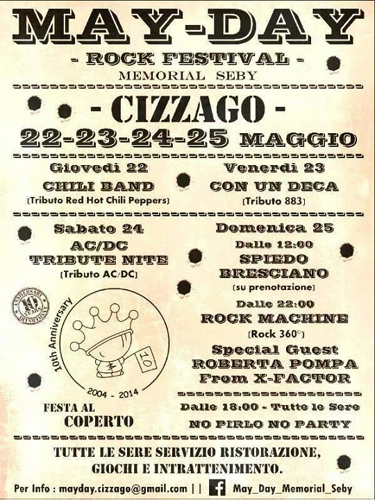 May Day Rock Festival 2014 Cizzago