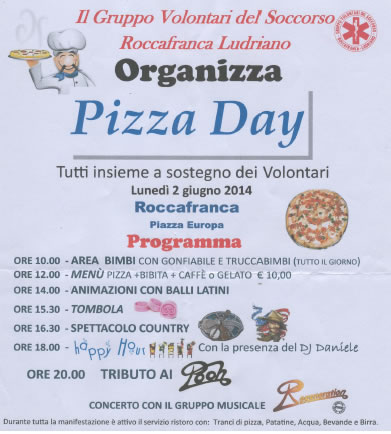 Pizza Day a Roccafranca