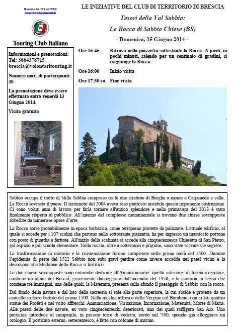 Rocca di Sabbio Chiese con TCI