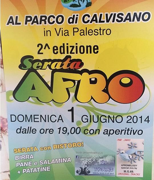 Serata Afro a Calvisano