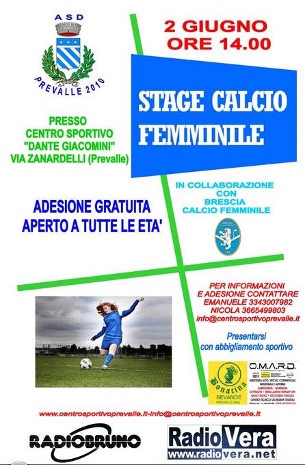 Stage Calcio Femminile a Prevalle