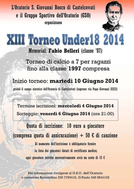 13 torneo under18 2014