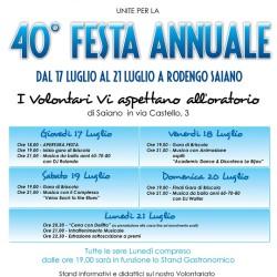 40° Festa Annuale Rodengo Saiano 2014
