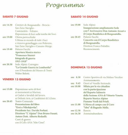 80° Fondazione del Gruppo Alpini a Borgosatollo