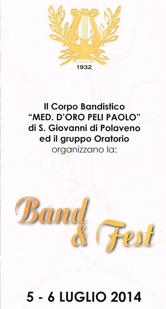 Band & Fest 2014 Polaveno Locandina