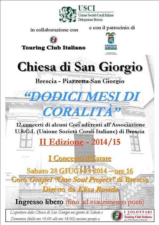 Dodici mesi di coralità Brescia 2014