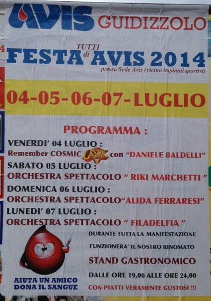 Festa AVIS Guidizzolo (MN) 2014