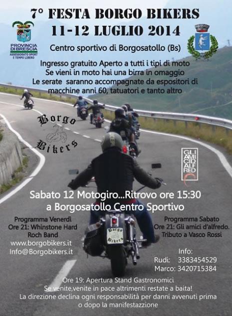 Festa Borgo Bikers a Borgosatollo