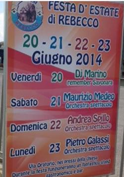 Festa D'Estate a Rebecco di Guidizzolo (MN)