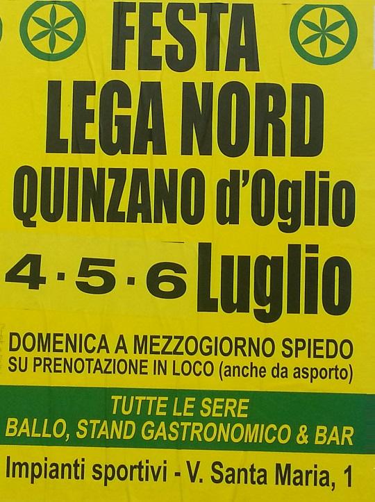 Festa Lega Nord Quinzano D'Oglio 2014