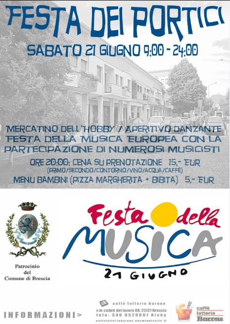 Festa dei Portici e della Musica a Brescia