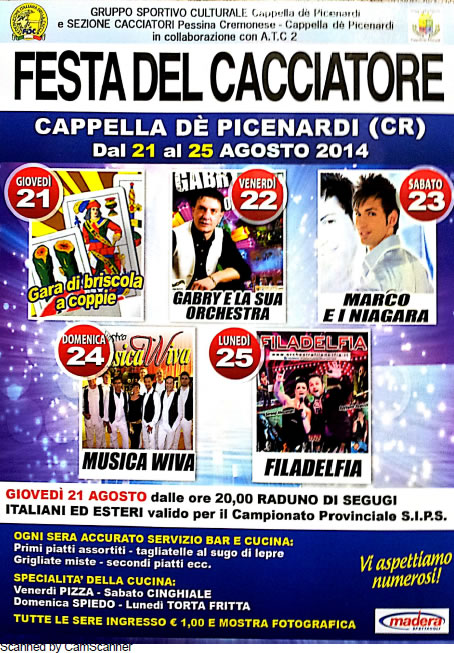 Festa del Cacciatore a Cappella de Picenardi (CR)