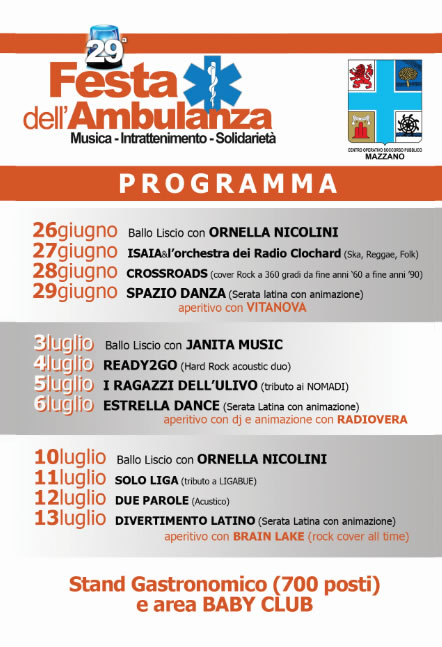 Festa dell'Ambulanza COSP Mazzano