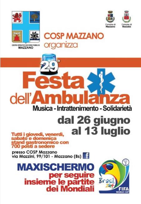 Festa dell'Ambulanza COSP a Mazzano