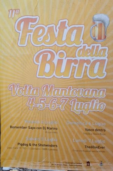Festa della Birra a Volta Mantovana
