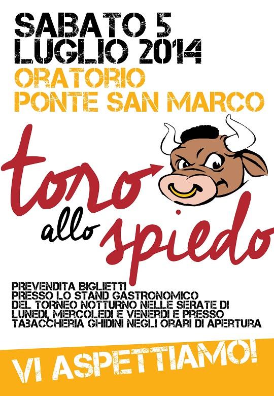 Festa di chiusura torneo notturno 2014 Ponte San Marco
