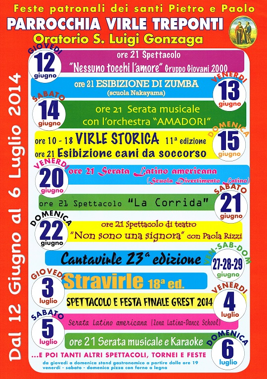 Feste patronali San Pietro e Paolo 2014 Virle