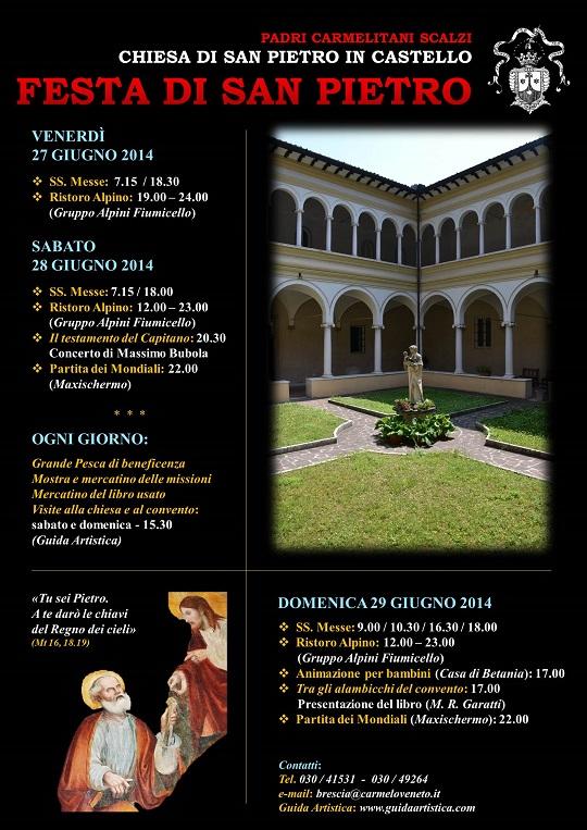 Festività di San Pietro dai Carmelitani Scalzi in Castello a Brescia 2014