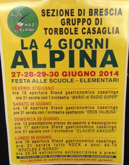 La 4 Giorni Alpina a Torbole Casaglia