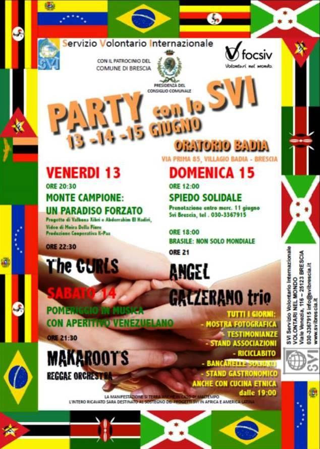 Party con lo SVI a Brescia