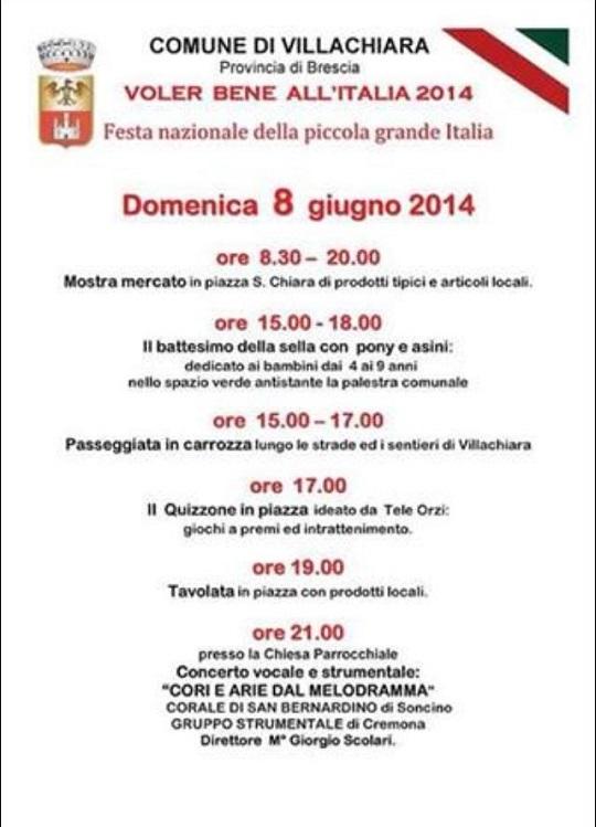 Voler bene all'Italia 2014 Villachiara
