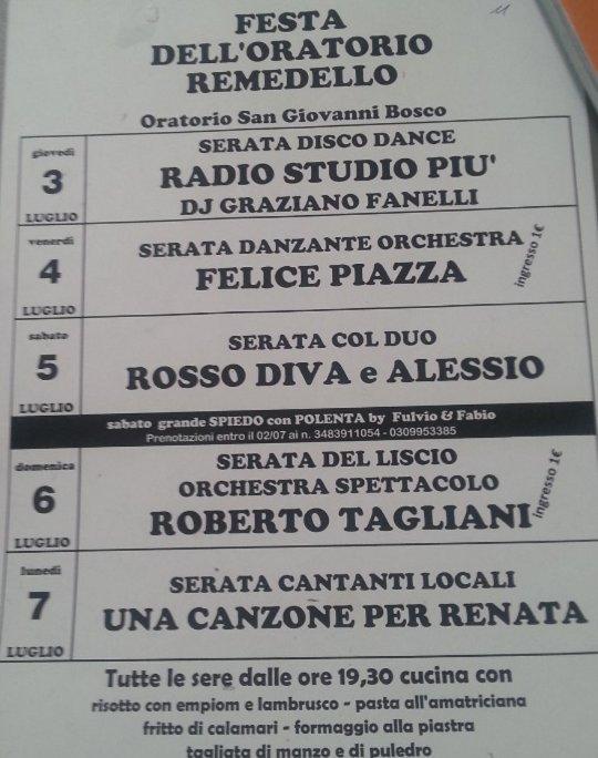 festa dell'Oratorio a Remedello