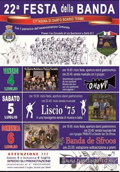 22° Festa della Banda a Darfo Boario Terme