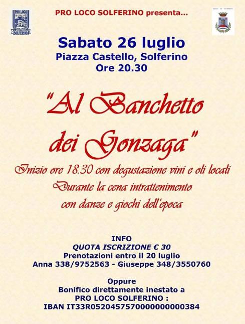 Al Banchetto dei Gonzaga a Solferino (MN)