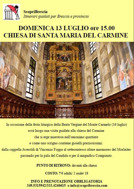 Chiesa di Santa Maria del Carmine con ScopriBrescia