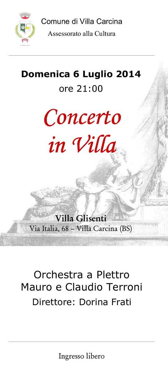 Concerto in villa a Villa Carcina
