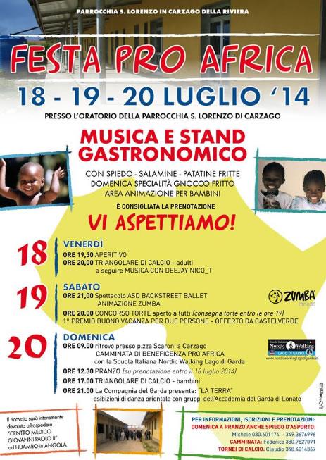 Festa Pro Africa a Carzago