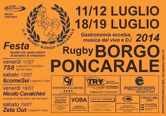 Festa Rugby Borgo Poncarale 2014